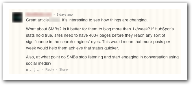 Scour blog comments for more content writing opportunities