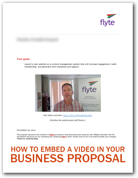 How to Embed a Video In Your Business Proposal