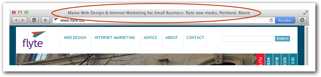 flyte's home page title
