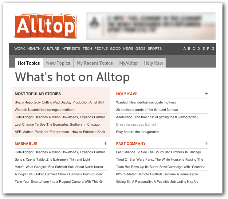 Submit Your Blog to Alltop