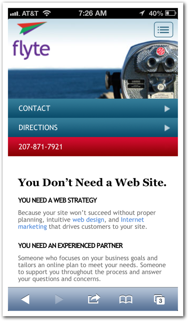 Mobile Site with WP-Touch