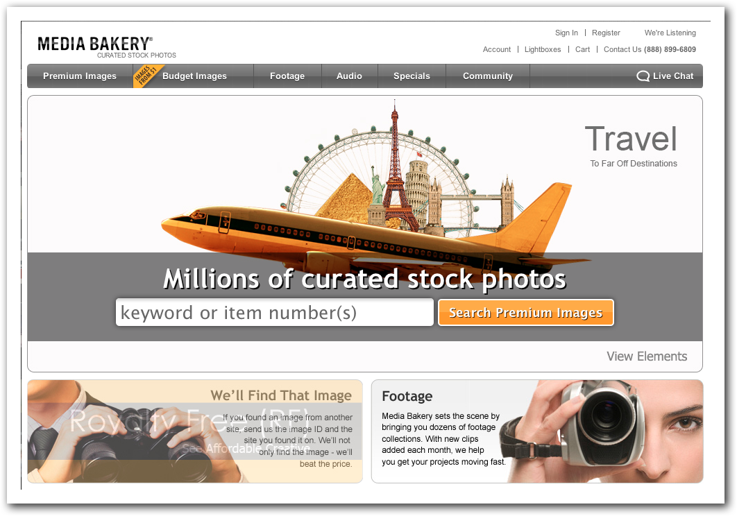 Media Bakery - Stock Photo Site