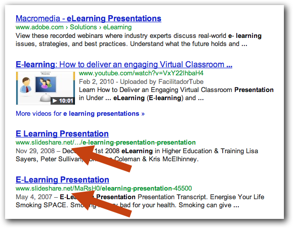 SlideShare Appears in Google Results