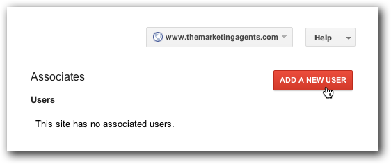 Add a New User in Google Webmaster Tools