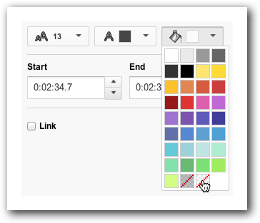 Choosing a background color for your Spotlight annotation