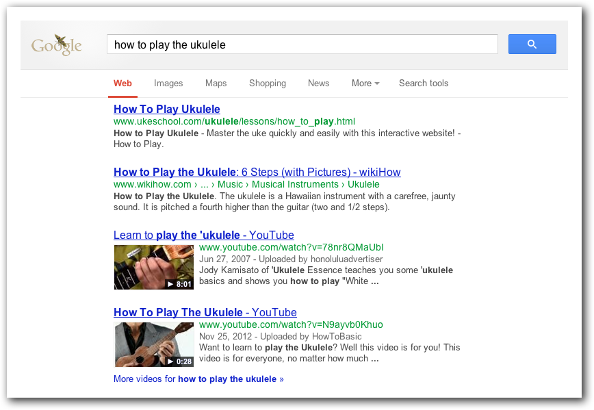 Video Results at Google